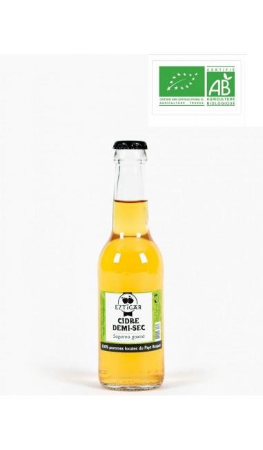 Cidre pétillant demi-sec Eztigar 25cl